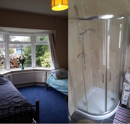 Twin Bay Bedroom. Shower